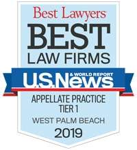 appellate firm is ranked Tier One in the United States in Appellate Practice by U.S. News – Best Lawyers